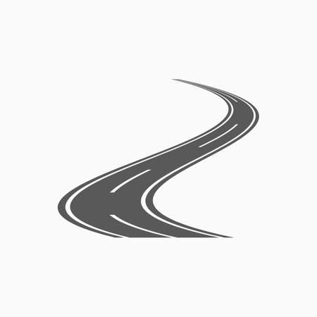 curved road icon