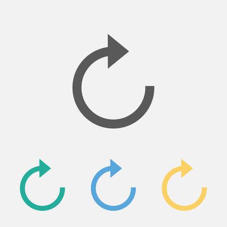 refresh icon 矢量图像