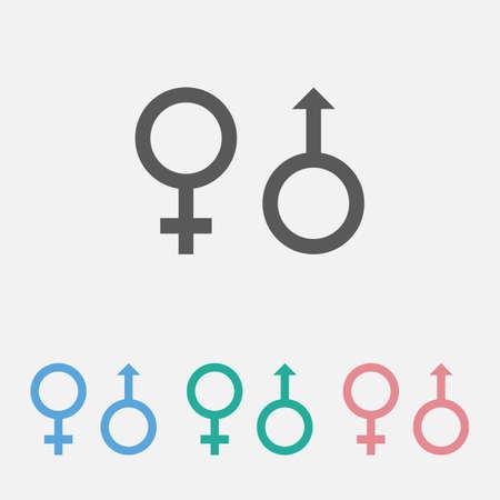 sex icon 矢量图像