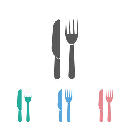 knife and fork icon 矢量图像