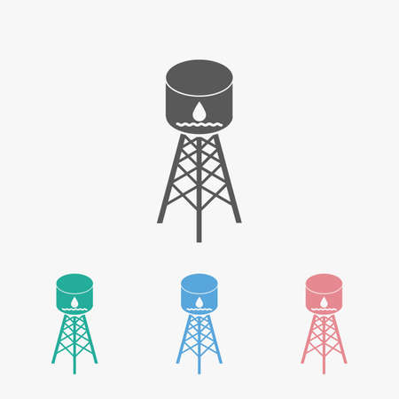 water tank icon 矢量图像