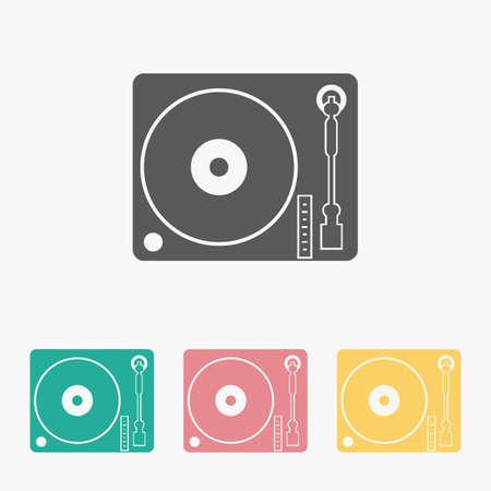 disk jockey turntable icon 矢量图像