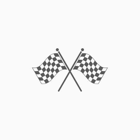 racing flag icon 矢量图像