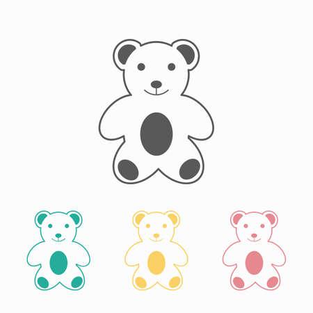 bear cartoon icon