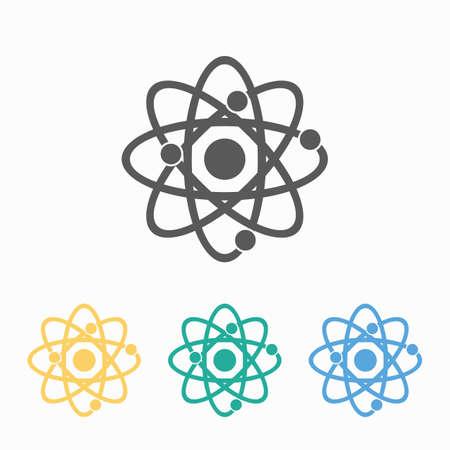 atom icon 矢量图像