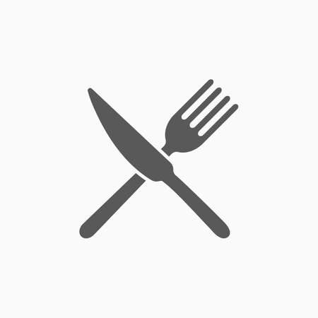 fork and knife icon 矢量图像