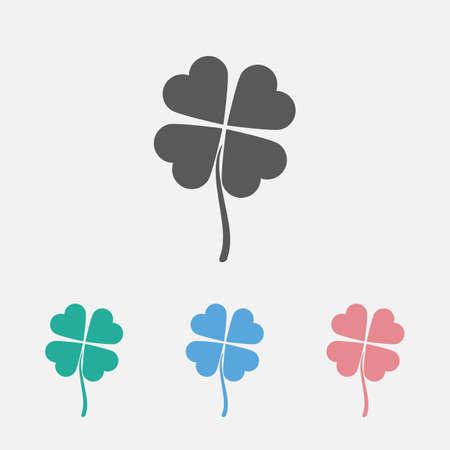 four leaves icon Çizim