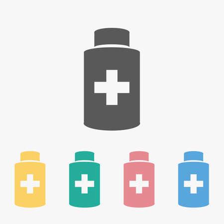 medicine bottle icon Çizim