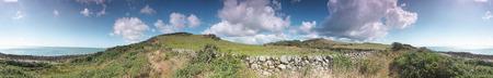 stoney: Field   stoney beach near Rockcliffe, Solway coast  360 degree panorama