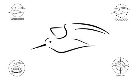 hunting logo, woodcock line based and example logo Illustration