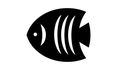 Fish icon vector, flat symbol fish silhouette black on white background, logo design. Illusztráció