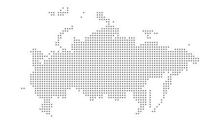 Fond de vecteur en pointillé de la carte de la Russie. Illustration pour la conception technologique ou l'infographie
