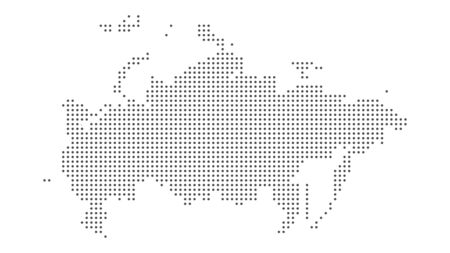 Russia map dotted vector background. Illustration for technology design or infographics