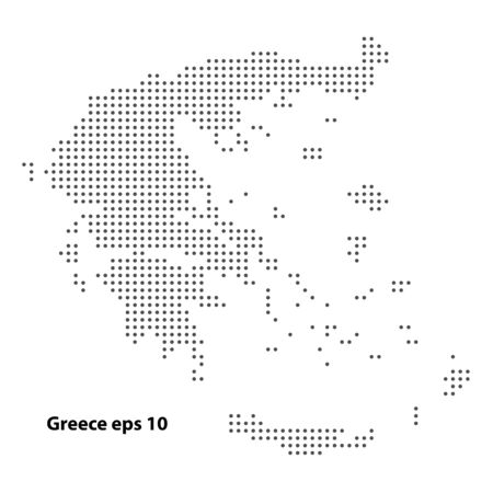 Greece map dotted vector background. Illustration for technology design or infographics. Isolated on white background. Travel vector illustration