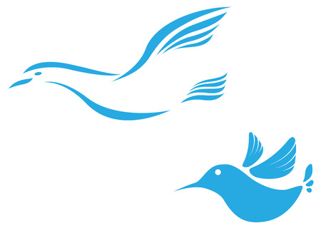 lux: Illustration of Flying bird abstract icon