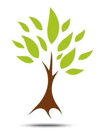 抽象的なツリーのアイコン  イラスト・ベクター素材