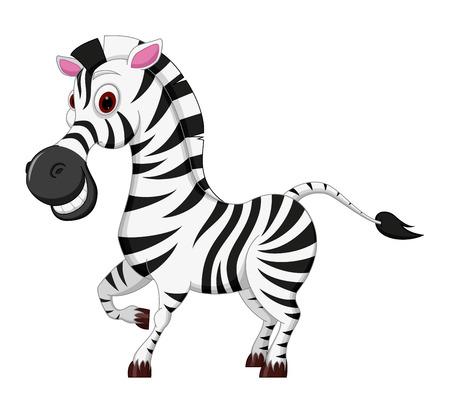 horse like: Happy Zebra cartoon