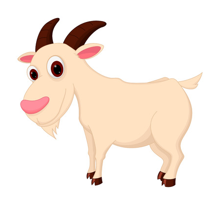 montañas caricatura: De dibujos animados de cabra
