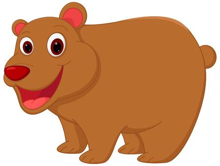 floe: Happy bear cartoon Illustration