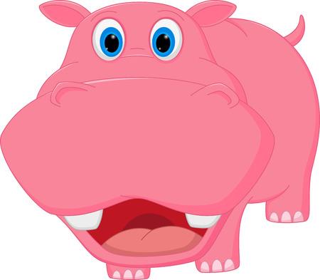 hippo cartoon: Cute hippo cartoon Illustration