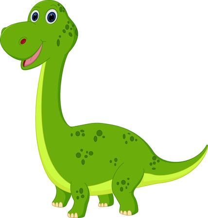 dinosauro: Carino dinosauro del cartone animato Vettoriali