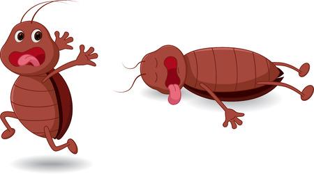 Cockroach cartoon expression Illustration