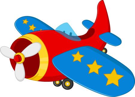 만화 공기 비행기 일러스트