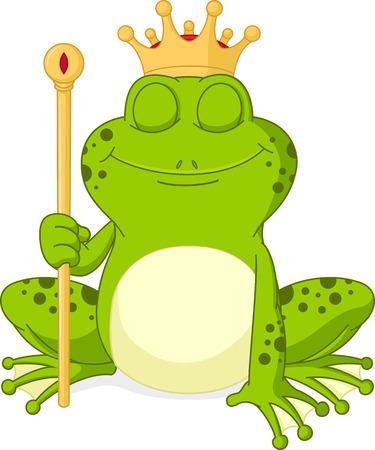 croaking: Prince frog cartoon