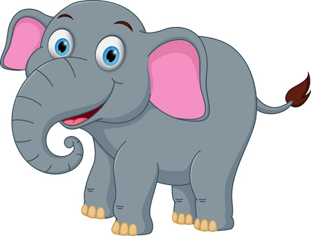 forest clipart: Happy elephant cartoon