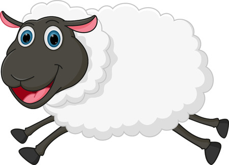 sheep wool: Happy sheep jumping