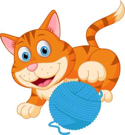 tubby: Cute cat playing with a ball