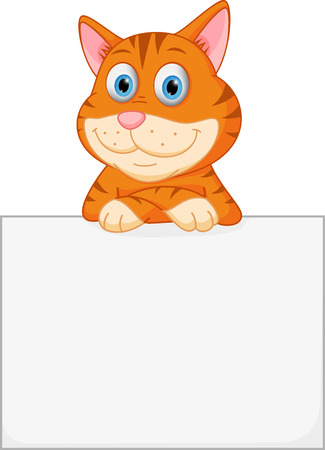 droopy: Cute cat with sign