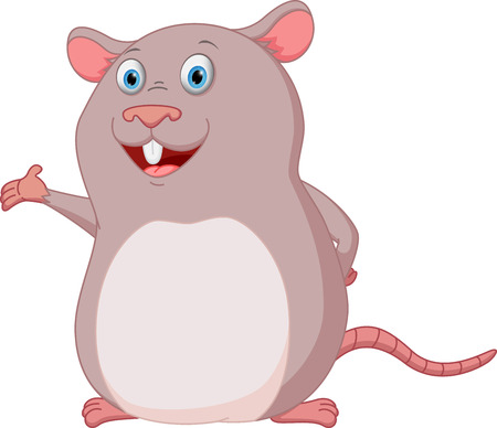 presenting: Happy mouse cartoon presenting