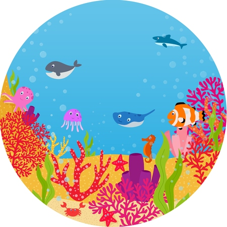 moray: Underwater world animal cartoon