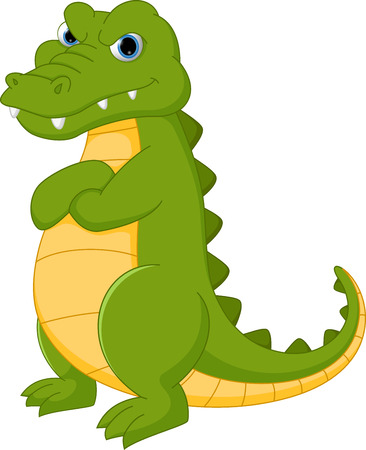 timide: Crocodile cartone animato