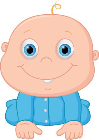 Happy baby boy cartoon Illustration
