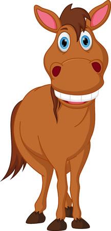 nostrils: Happy horse cartoon