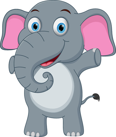 shrank: Happy baby elephant cartoon Illustration