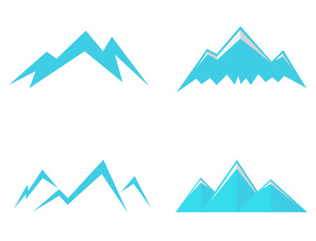 extreme terrain: Mountains Icons and symbols Illustration