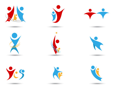 Human icons and symbols Vector
