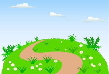 landscape scene background Vector
