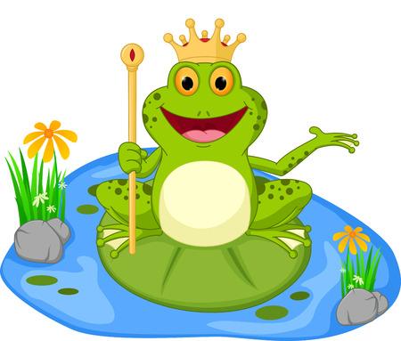 王子カエルの漫画の提示  イラスト・ベクター素材