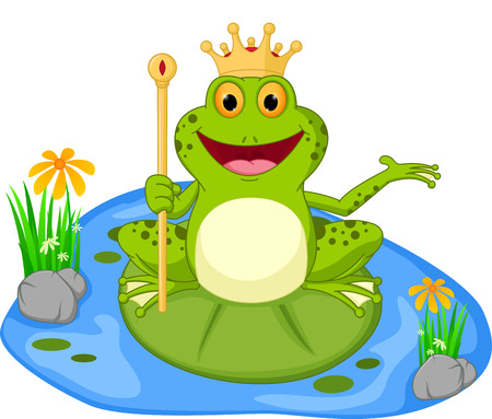 prince frog cartoon presenting Stock Vector - 41794505