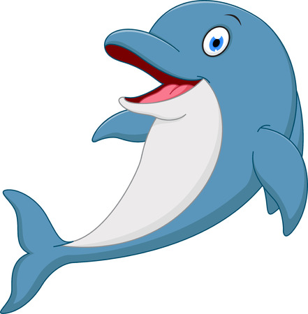 Happy dolphin cartoon