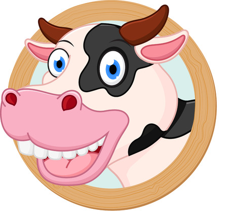 cow cartoon: cow cartoon or mascot