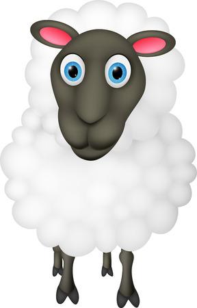 lamb cartoon: Happy Sheep cartoon