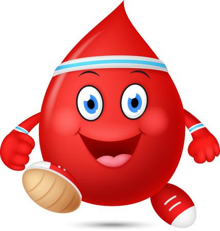 blood sport: Happy blood cartoon running