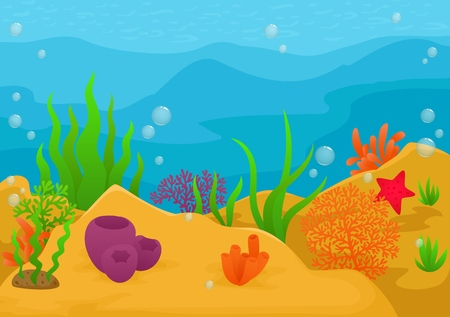 under the sea: Underwater landscape background