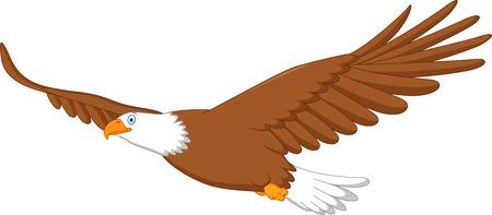 aguila calva: Águila volando de dibujos animados