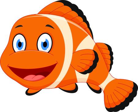 Nette Karikatur Clownfische